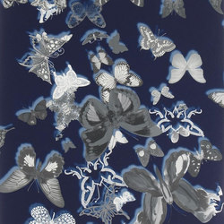 Carnets Andalous Wallpaper | Butterfly Parade - Cobalt | Wallcoverings | Designers Guild