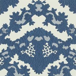 Carnets Andalous Wallpaper | Macarena Galuchat - Cobalt | Carta da parati | Designers Guild
