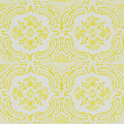 Carnets Andalous Wallpaper | Azulejos - Safran | Carta da parati | Designers Guild