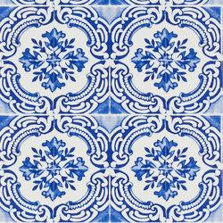 Carnets Andalous Wallpaper | Azulejos - Cobalt | Wandbeläge | Designers Guild