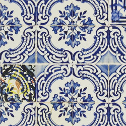 Carnets Andalous Wallpaper | Patio - Cobalt | Wandbeläge | Designers Guild