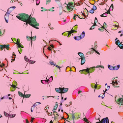 Nouveaux Mondes Wallpaper | Mariposa - Bougainvillier | Wall coverings / wallpapers | Designers Guild