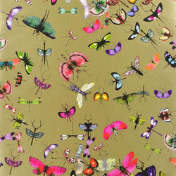 Nouveaux Mondes Wallpaper | Mariposa - Or | Wall coverings | Designers Guild