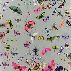 Nouveaux Mondes Wallpaper | Mariposa - Zinc | Wall coverings / wallpapers | Designers Guild