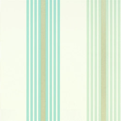 Oxbridge Wallpaper | Pembroke - Turquoise | Wall coverings | Designers Guild
