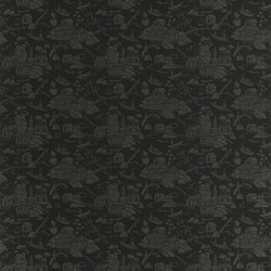 Signature Century Club Wallpaper | Chang Dynasty - Jet | Wallcoverings | Designers Guild