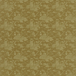 Signature Century Club Wallpaper | Chang Dynasty - Gold | Papiers peint | Designers Guild