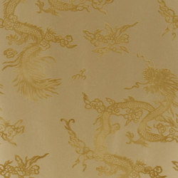 Signature Century Club Wallpaper | Jinping Dragon - Champagne | Wandbeläge | Designers Guild