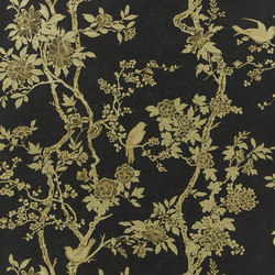 Signature Century Club Wallpaper | Marlowe Floral - Gilded Lacquer | Wall coverings | Designers Guild