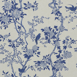 Signature Century Club Wallpaper | Marlowe Floral - Porcelain | Wall coverings | Designers Guild
