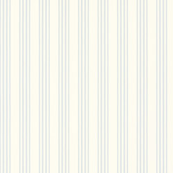 Signature Century Club Wallpaper | Palatine Stripe - Sky | Papiers peint | Designers Guild