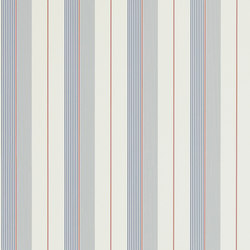Stripes And Plaids  Wallpaper | Aiden Stripe - Navy / Red / Cream | Wall coverings | Designers Guild