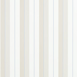 Signature Papers Wallpaper | Aiden Stripe - Natural / Blue | Wallcoverings | Designers Guild