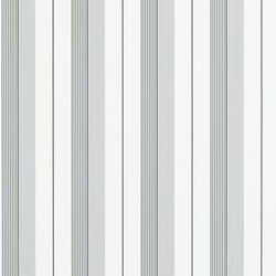 Signature Papers Wallpaper | Aiden Stripe - Black / Grey | Papiers peint | Designers Guild