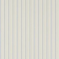 Stripes And Plaids  Wallpaper | Denton Stripe - White / Blue | Papeles pintados | Designers Guild