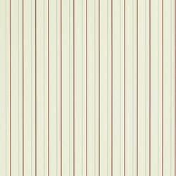 Stripes And Plaids  Wallpaper | Denton Stripe - Cream / Red | Carta da parati | Designers Guild