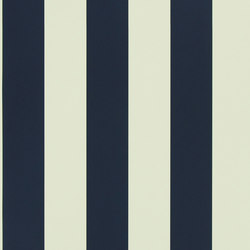 Stripes And Plaids Wallpaper | Spalding Stripe - Navy | Wall coverings / wallpapers | Designers Guild