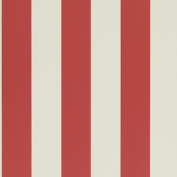 Stripes And Plaids Wallpaper | Spalding Stripe - Red | Papeles pintados | Designers Guild