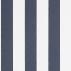 Signature Papers Wallpaper | Spalding Stripe - Navy / White | Wallcoverings | Designers Guild