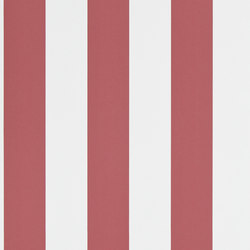 Signature Papers Wallpaper | Spalding Stripe - Red / White | Wandbeläge | Designers Guild