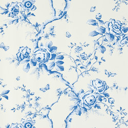 Signature Papers Wallpaper | Ashfield Floral - Delft | Wall coverings | Designers Guild