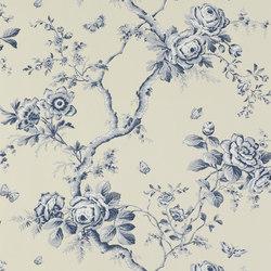 Signature Papers Wallpaper | Ashfield Floral - Sapphire | Carta da parati | Designers Guild