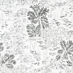 Signature Papers Wallpaper | Homeport Novelty - Jet | Papeles pintados | Designers Guild