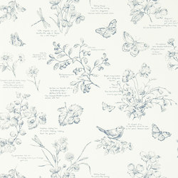 Signature Papers Wallpaper | Nature Study Toile - Elderberry | Wandbeläge | Designers Guild