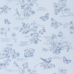 Signature Papers Wallpaper | Nature Study Toile - Bluebell | Wall coverings | Designers Guild