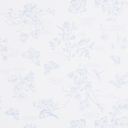 Signature Papers Wallpaper | Nature Study Toile - Blueberry | Wandbeläge | Designers Guild