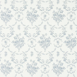 Signature Papers Wallpaper | Saratoga Toile - Iris | Wallcoverings | Designers Guild