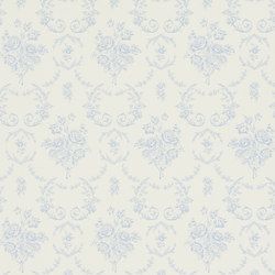 Signature Papers Wallpaper | Saratoga Toile - Bluebell | Wallcoverings | Designers Guild