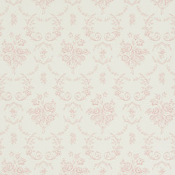 Signature Papers Wallpaper | Saratoga Toile - Rose | Wandbeläge / Tapeten | Designers Guild