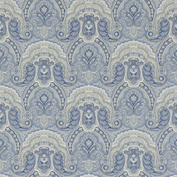 Signature Papers Wallpaper | Crayford Paisley - Porcelain | Wallcoverings | Designers Guild
