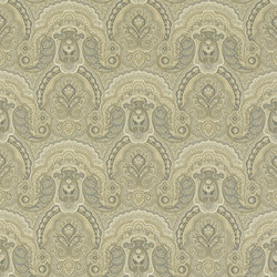 Signature Papers Wallpaper | Crayford Paisley - Stone | Wallcoverings | Designers Guild