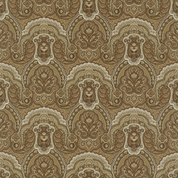 Signature Papers Wallpaper | Crayford Paisley - Sepia | Wall coverings | Designers Guild
