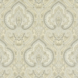 Signature Papers Wallpaper | Castlehead Paisley - Pearl | Wandbeläge | Designers Guild