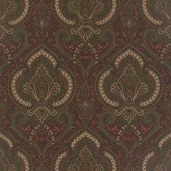 Signature Papers Wallpaper | Castlehead Paisley - Chestnut | Wandbeläge | Designers Guild