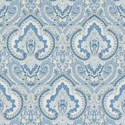 Signature Papers Wallpaper | Castlehead Paisley - Porcelain | Wandbeläge / Tapeten | Designers Guild
