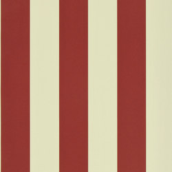 Signature Papers II Wallpaper | Spalding Stripe - Red / Sand | Wandbeläge / Tapeten | Designers Guild