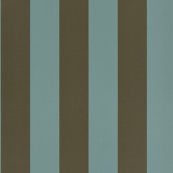 Signature Papers II Wallpaper | Spalding Stripe - Teal | Wandbeläge / Tapeten | Designers Guild
