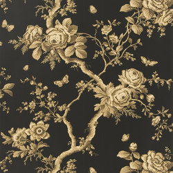 Signature Papers II Wallpaper | Ashfield Floral - Tobacco | Wallcoverings | Designers Guild
