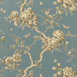 Signature Papers II Wallpaper | Ashfield Floral - Tourmaline | Wallcoverings | Designers Guild