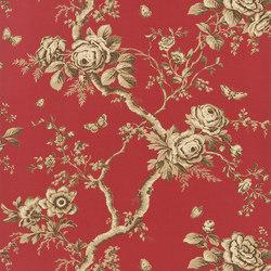 Signature Papers II Wallpaper   Ashfield Floral - Balmoral Red   Carta da parati   Designers Guild