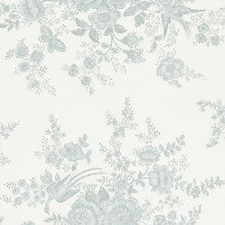 Signature Papers II Wallpaper | Vintage Dauphine - Pale Teal | Carta da parati | Designers Guild