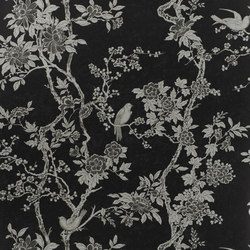 Signature Papers II Wallpaper | Marlowe Floral - Marcasite | Wall coverings | Designers Guild