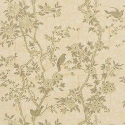 Signature Papers II Wallpaper | Marlowe Floral - Mother Of Pearl | Papeles pintados | Designers Guild