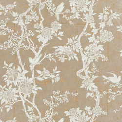Signature Papers II Wallpaper | Marlowe Floral - Sterling | Papiers peint | Designers Guild
