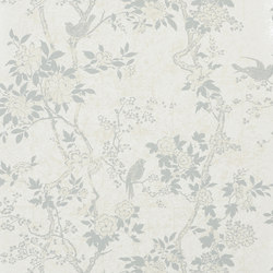 Signature Papers II Wallpaper | Marlowe Floral - Dove | Wallcoverings | Designers Guild