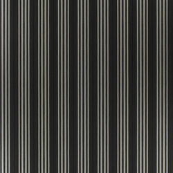 Signature Papers II Wallpaper | Palatine Stripe - Jet | Papeles pintados | Designers Guild